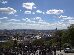 View of Paris from the steps at Sacre-Coeur
